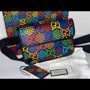 Authentic Gucci psychedelic bum bag belt Fannypack